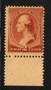1883  Sc 210  2¢ brown  MNH  OG  nice  single