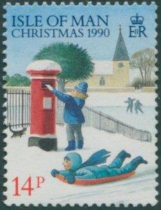 Isle Of Man 1990 SG459 14p Christmas MNH