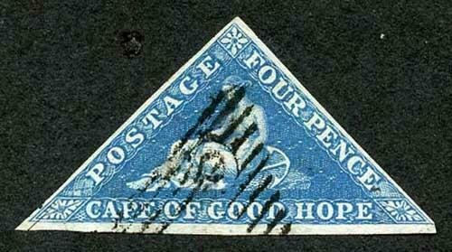 COGH SG2 DLR Four Pence deep blue on blued paper