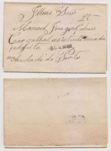 PORTUGAL 1852 PRESTAMP ELS VALENCA & 25 HS RATE TO PORTO Ex-GONDOMIL €180++