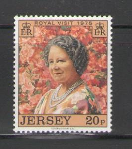 Jersey Sc 128 1975 Queen Mother visit stamp mint NH