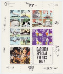 Antigua and Barbuda. 1977. bl29. Aviation. MNH.