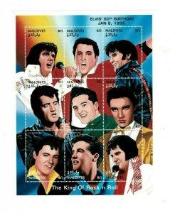 Maldives MNH S/S 9525 Elvis Presley 9 Stamps
