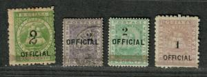 British Guiana Sc#96-102 M+U/H/F, Partial Set, Cv. $735