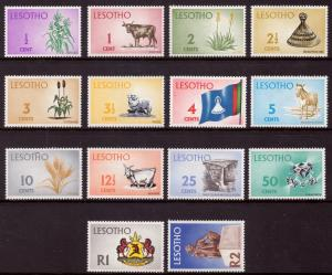 Lesotho 1971 Definitives Set of 14 SG 191-203 MH