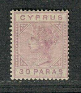 Cyprus Sc#20a M/H/F-VF, Lilac, Cv. $85