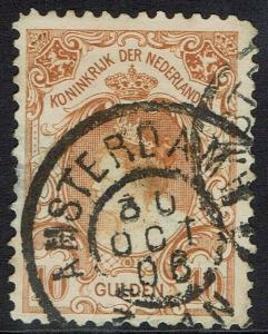 NETHERLANDS 1899 QUEEN 10G USED