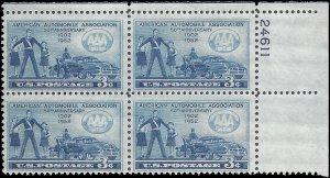#1007 350th Anniversary of American Automobile Assoc. PB/4 1952 MInt NH
