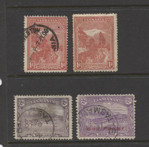 STAMP STATION PERTH Tasmania #87,88 and 117 Mint and used