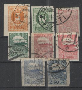 Estonia 1919-24 lot Used VG - Nice lot early used Estonia