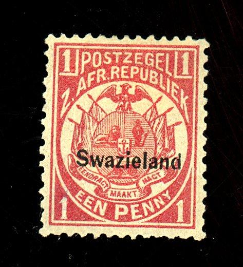 Swaziland #2 MINT F-VF OG HR Cat$23