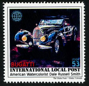 Bugatti - Intl. Local Post Stamp - MNH - Cinderella
