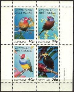 {E264} Eynhallow Scotland Birds (2) Sh.4 MNH Cinderella