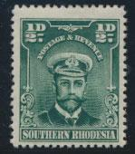 Southern Rhodesia SG 1  SC# 1 MH see scan and details