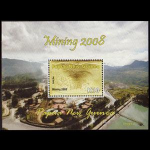 Papua New Guinea MNH S/S 1338 Mining Gold 2008 SCV 8.50