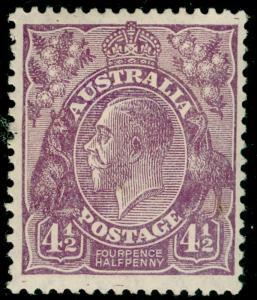 AUSTRALIA SG103, 4½d violet, M MINT. Cat £70.