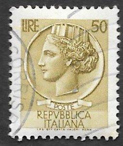 Italy Scott #683 50 l Italia (1958) Used