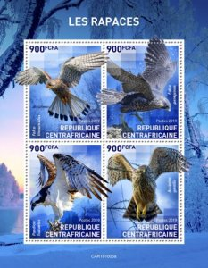 CENTRAL AFRICAN REP. (CENTRAFRIQUE) / 2019 Birds of prey