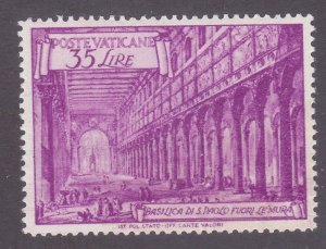 Vatican City 129 MNH OG 1949 35L St. Paul Issue Perf 14x14 VF-XF