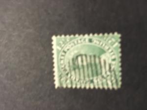 Canada 2016 Scott #18a Used Sound & Fine Cat. $125. 1859 Blue Green QV