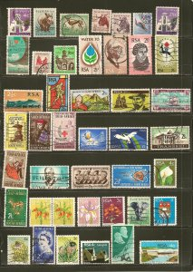 South Africa Collection of 42 Different Older Stamps Used