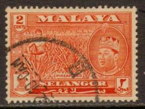 Malaya-Selangor  #115  used  (1961)  c.v. $3.00