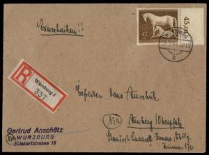 Germany 1944 Braune Band Brown Band Horse RaceRegistered Cover 71794