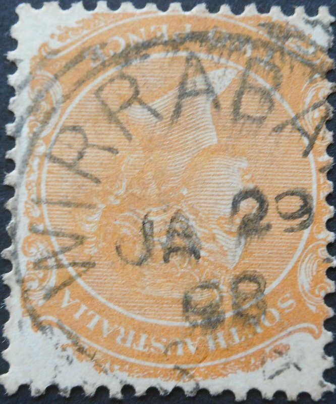 South Australia 1898 Two Pence with WIRRABARA Sq Circle postmark