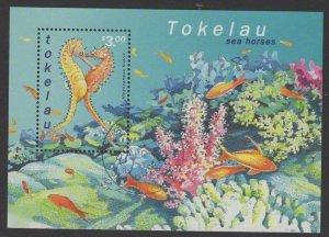 TOKELAU ISLANDS SGMS324 2001 SEAHORSES FINE USED