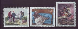 J20169  jlstamps 1962 france set mh #1049-51 paintings