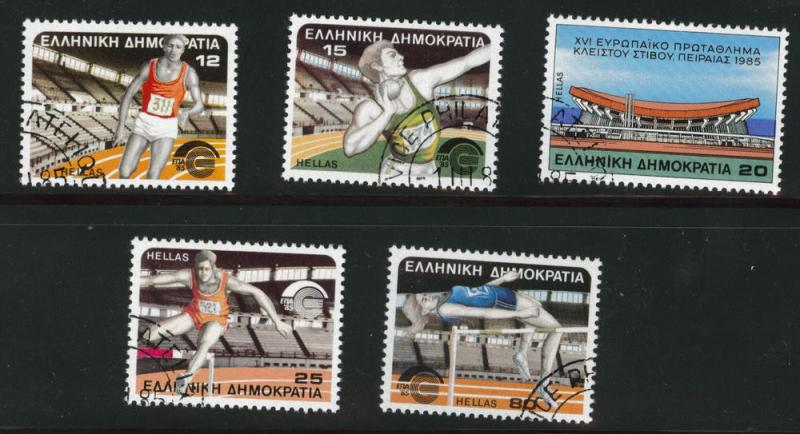 GREECE Scott 1513-1517 Used CTO 1985 sports set