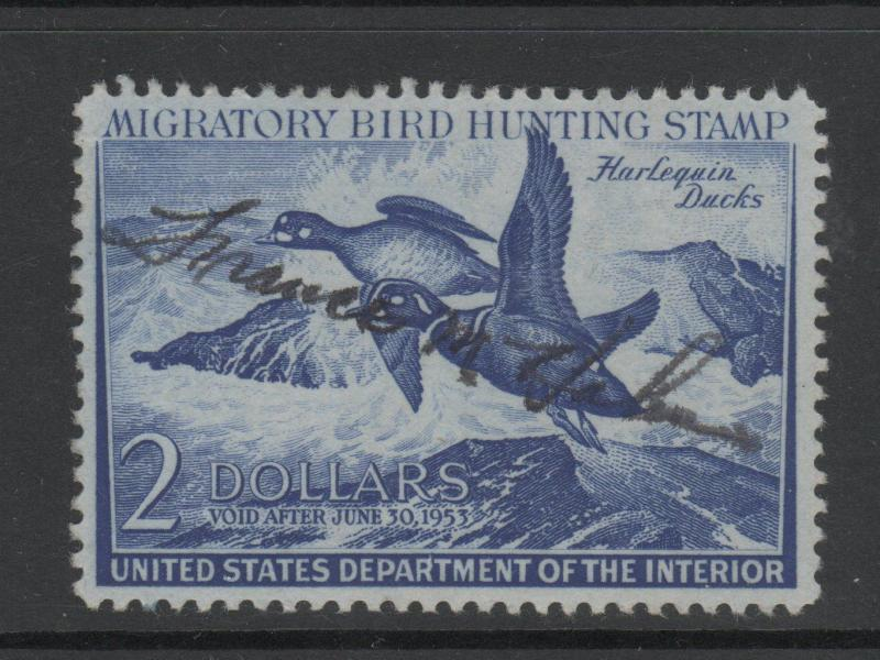 USA DUCK STAMPS USED scott RW19 243  0718