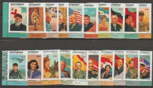 Montserrat SG 1065 - 1084 set of 20 MLH - Famous People