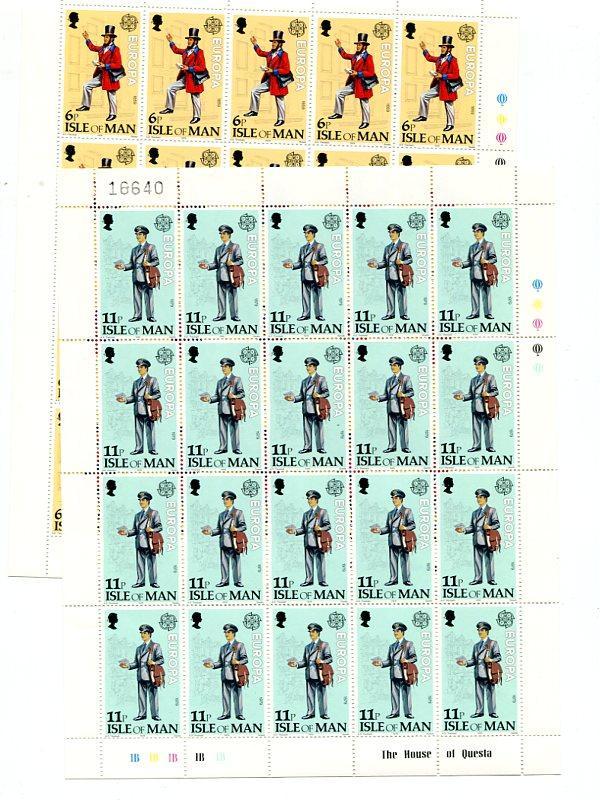 Isle of Man  1979   mini sheets . Mint   VF NH