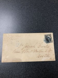 US 1847 # 2 10c on COVER - Nice Cancel On Small Bloods Dispatch & Coal Office