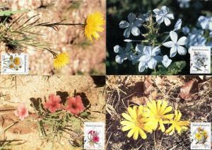 Bophuthatswana - 1987 Wild Flowers Maxi Card Set SG 187-190