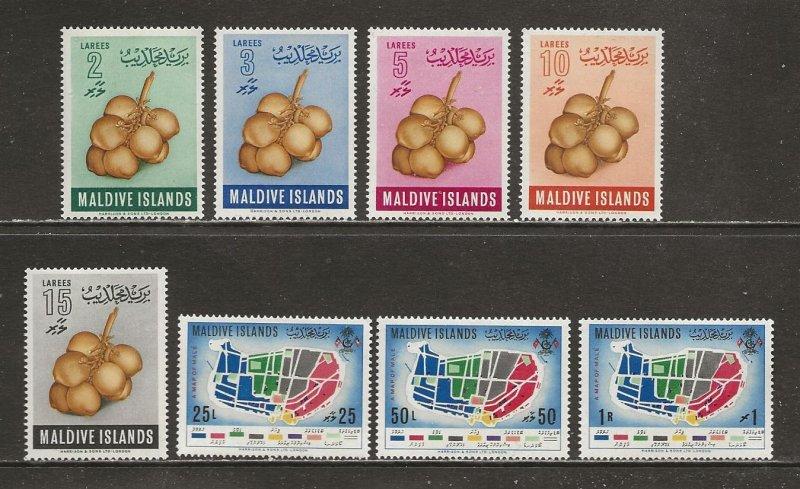 Maldive Islands Scott catalog # 69-76 Unused Hinged