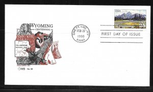 United States 2444 Wyoming Statehood Eastern Cachet First Day Cover FDC (z8)