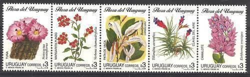 Flora flowers Tuna Cactus plants tree URUGUAY Sc#1588 MNH STAMP cv$10