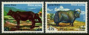 Nepal 276-277, MNH. Cow, Yak, 1973