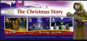 Isle of Man --2010-THE CHRISTMAS STORY MNH sheet  # 1400