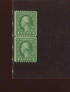Scott 448 Washington Mint Coil Line Pair of 2 Stamps NH (Stock 448-LP9)