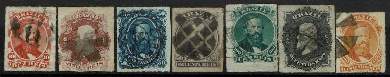 Brazil SC# 61-67, Used, 61 sm side thin, 63 few pinholes, see notes - Lot 073017