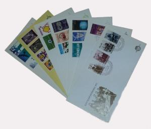 Netherlands 1974 Complete Year Set of 7 unaddressed First Day Covers FDC