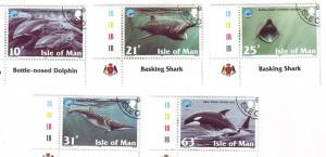 Isle of Man Sc 776-0 1998 Year of Ocean stamp set used