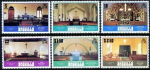 ANGUILLA - 1979 - EASTER - CHURCH - CHURCHES - INTERIOR - MINT - MNH SET!