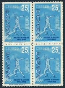 Panama C236 block/4,MNH.Michel 576. Olympics Rome-1960.Javelin thrower.