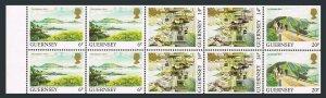 Guernsey 297a pane/10,MNH.Michel H-Blatt 32. Harbor,Herm,St Peter Port,Le Coupee