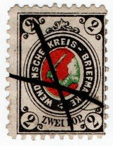 (I.B-CK) Russia Zemstvo Postal : Wenden 2kp