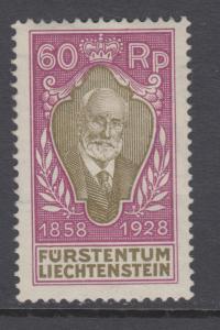 Liechtenstein Sc 85 MLH. 1928 60rp Prince Johann